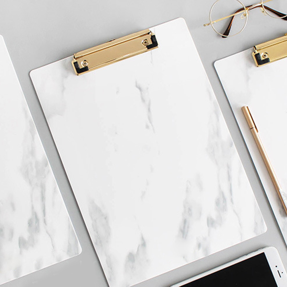 A4 A5 With Hanging Hole Metal Clip Writing Pad Stationery Clipboard Folder File Document Paper Holder Conference Accessories