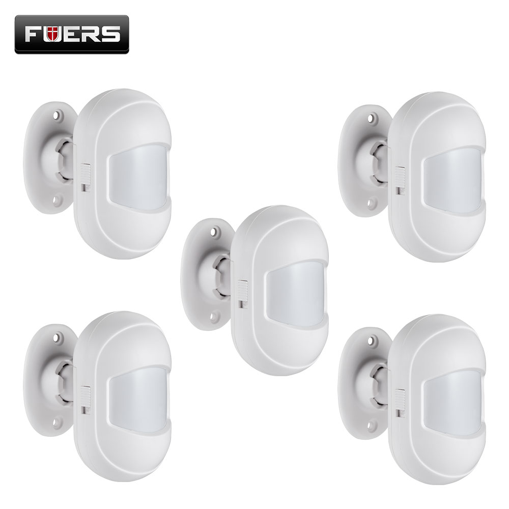 Fuers Wireless Mini PIR Sensor Motion Detector 433Mhz HW10 Alarm Sensor For Wifi GSM Alarm System WG11 PG103 Home Security Alarm
