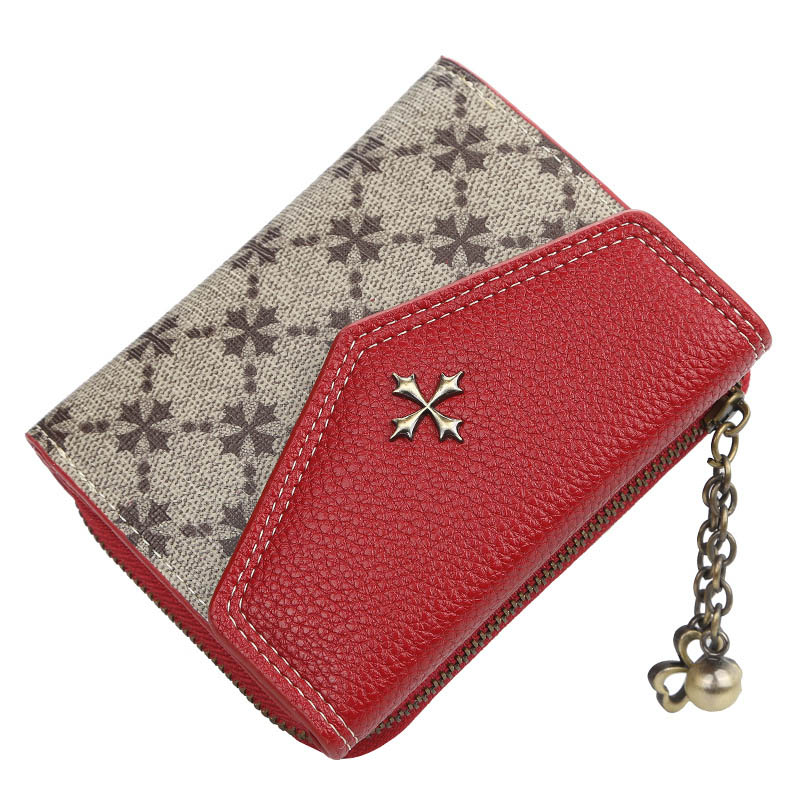2019 Fashion Short Women Wallets Sequined Top Quality PU Female Wallets Card Holder Female Purse Zipper Brand Wallet For Girl