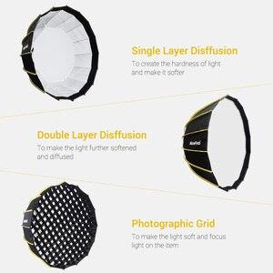 Image 3 - NiceFoto stüdyo hızlı kurulum altıgen Softbox 60cm / 23.6 inç ile yumuşak difüzör kumaş Speedlite fotoğraf ışığı