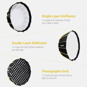 Image 3 - Nicemoto Softbox Hexagonal de Instalación rápida para estudio, 60cm/23,6 pulgadas, con paño difusor suave para luz de fotografía Speedlite