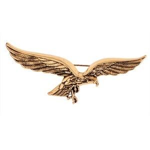Korean Fashion New Simple Brooch Golden Eagle Wings Shape Brooch Scarf Buckle Lapel Men Shirt Collar Accessories