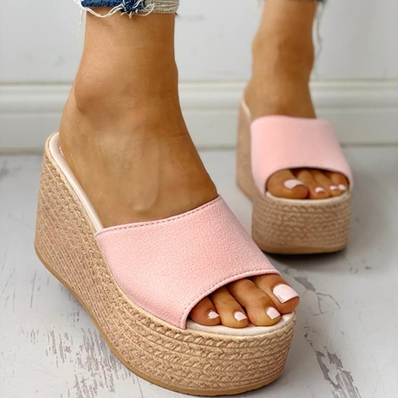 Fashion 2020 New Summer Women's Sandals Peep-Toe Shoes Woman High-Heeled Platfroms Casual Wedges For Women High Heels Shoes