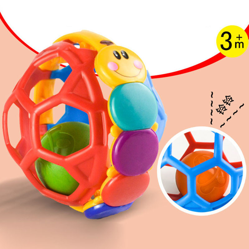 Baby Fun Multi-color Einstein Ball Baby Flexible Rattle Hand Teether Fitness Ball Massage Ball Toy