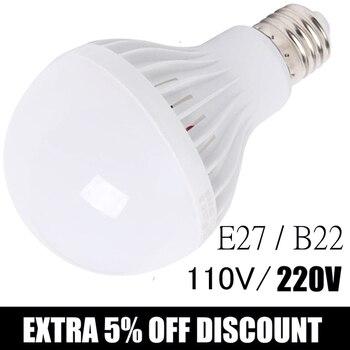 osstar white high power led downlights ceiling lamp 5730smd 25w 110v 220v 230v 240v ac ic led lamp led light dhl free shipping LED Bulb Light 3W 5W 7W 9W 12W 15W AC 110V~220V 240V E27 LED Bulb Lamp Smart IC Real Power Cold White/Warm White Lamp