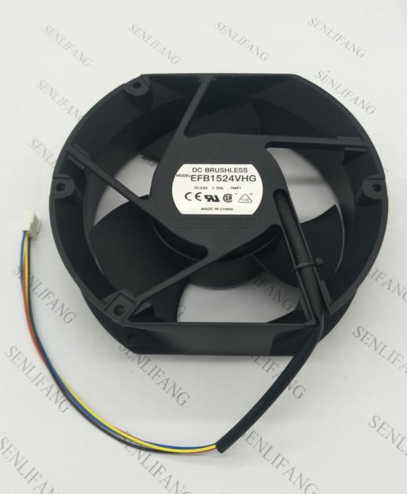 17CM 17050 24V 1.70A Large Wind Volume 4 Wire Frequency Conversion Fan EFB1524VHG Waterproof