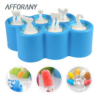 Silicone Mini Ice Pops Mold Ice Cream Ball Lolly Maker Popsicle Molds DIY Fish Shaped Cartoon Ice Cream Mold Sticks Ice Mold