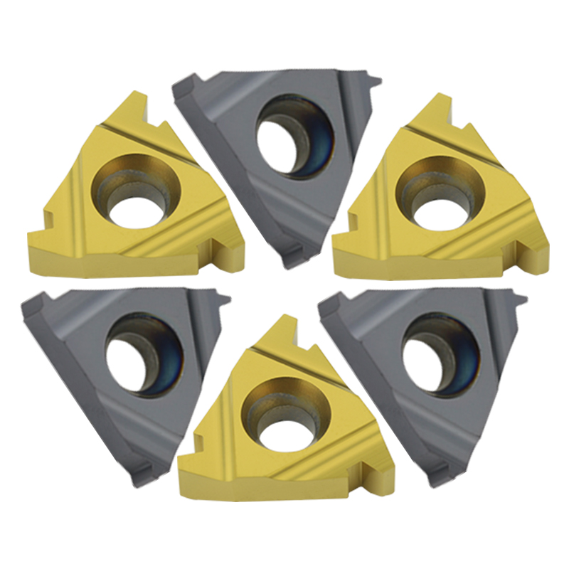 10pc 16ER / 22ER 1.5TR 2TR 2.5TR 3TR 4TR 5TR 6TR Carbide Thread Insert Trapezoid Thread Turning Tool Blade