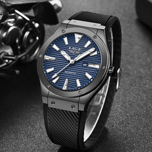 Relogio Masculino 2019 LIGE Mens Watches New Silicone Strap Watch Men's Military