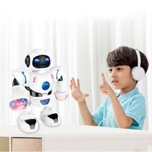 Kids Toys Rotating Smart Space Dance Robot Electronic Walking Toys with Music Li