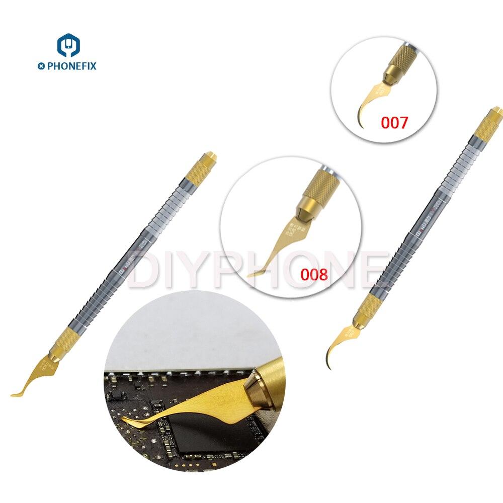 Phone PCB Tool Qianli Blade Multifunctioal CPU IC Glue Remover Knife Thin Blade BGA Chip Glue Cleaning Scraping Pry Knife