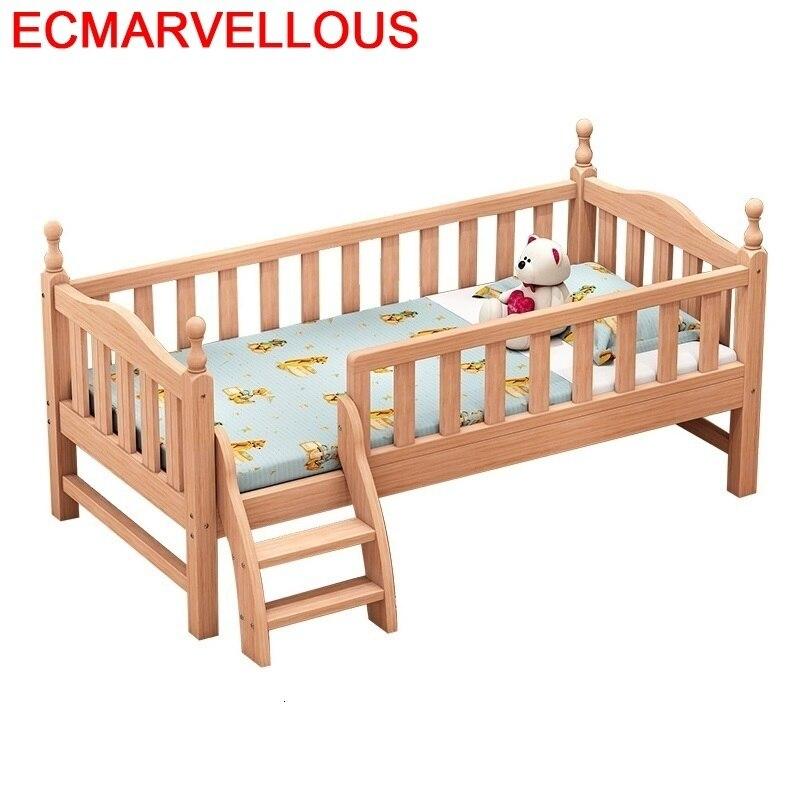 Baby Crib Tempat Tidur Tingkat Mobilya Hochbett Wood Wooden Bedroom Furniture Cama Infantil Lit Enfant Muebles Kids Bed