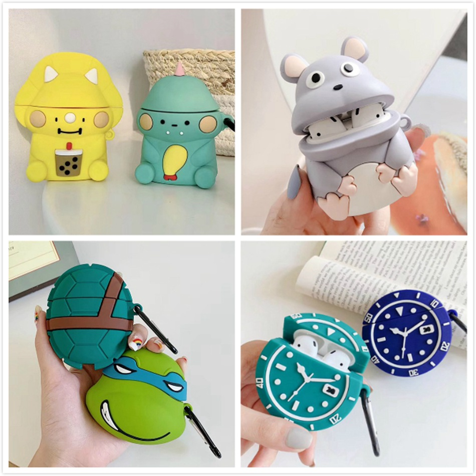 Earphone Case For Airpods Case Silicone Cute Cartoon Mouse Headphone Case For Apple Airpods Cover Air Pods 2 Earpods Accessories