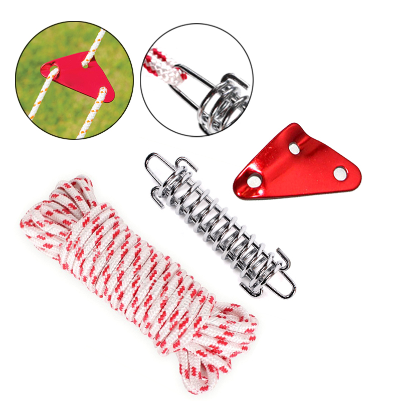 OMUKY Triangular Flexible Bracket Rope Tensioner Length Adjustment Rope Threader 3 Hole Outdoor Camping Tent Goods 6//12pcs