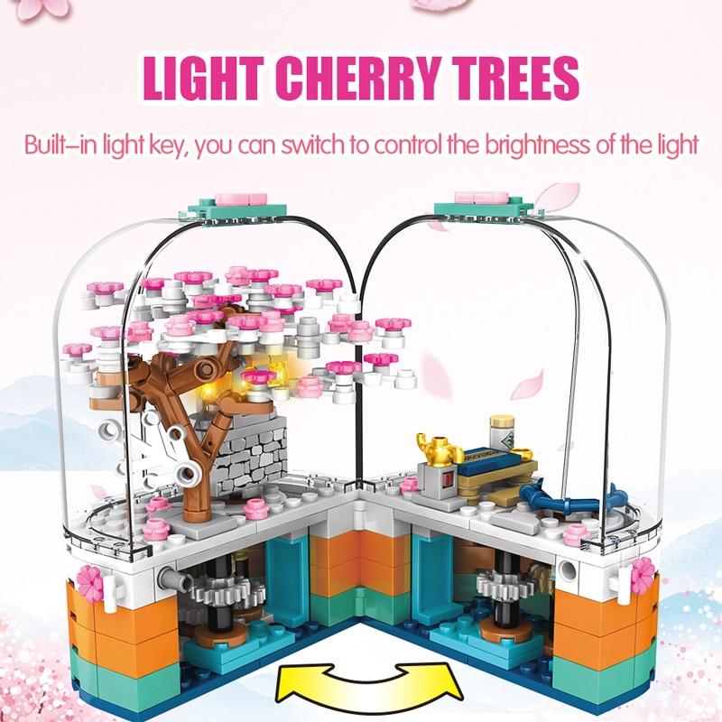 SEMBO Creative LED Light Rotating Box Building Blocks