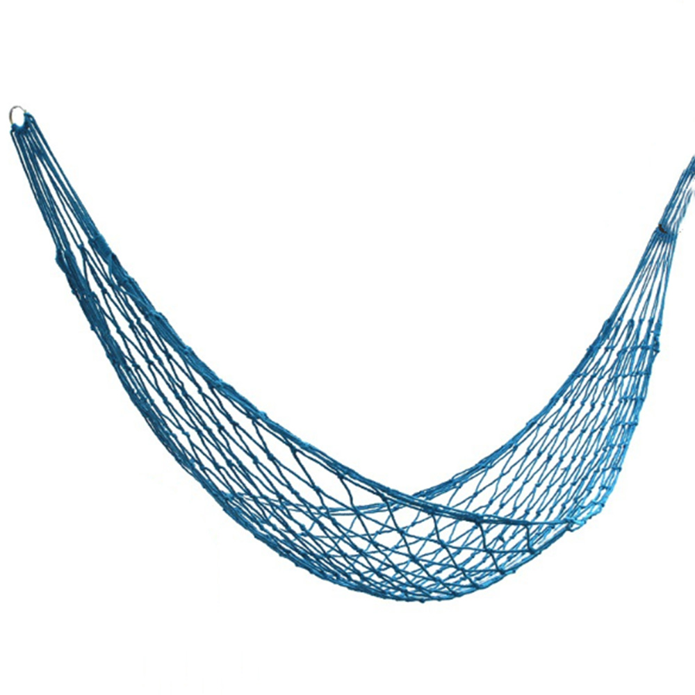 Nylon Portable Garden Mesh Hammock Hanging Sleeping Bed Swing For Outdoor Travel Camping Furniture Sleeping Hammock Sleeping Bed