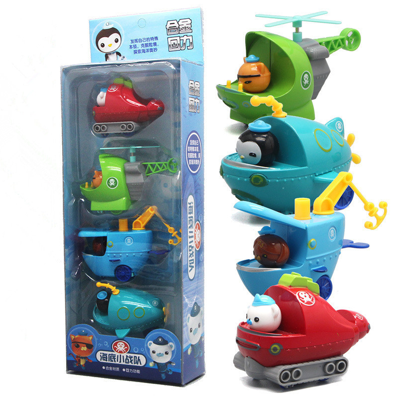 4pcs/set Les Octonauts Octopod Octonauts Figures Toy Peso Captain Barnacles Kwazii Shellington Dashi Tweak Inkling Kid Best Gift