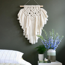 Indian Macrame Wall Hanging Art Tapestry Home Decoration Lace Fabric Hand-woven Bohemian Tapsetry