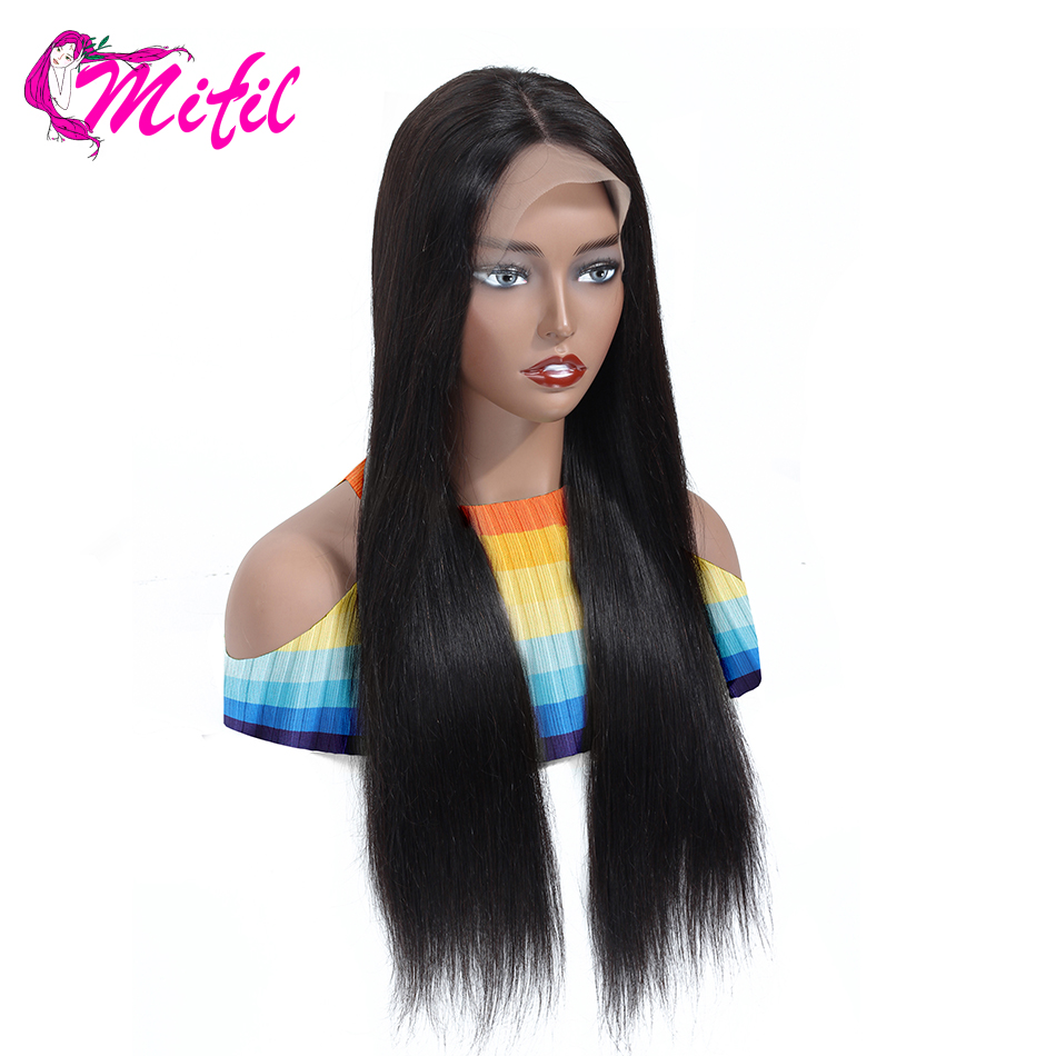 Mifil 26 28 30 Inch Brazilian Lace Front Human Hair Wigs For Black Women Remy Straight Lace Front Wig Pre Plucked Lace Wig