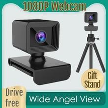 Webcam 1080p Computer Web-Camera Microphone 2-Mega-Pixels with USB CMOS for PC Fhd-Cmos-Sensor