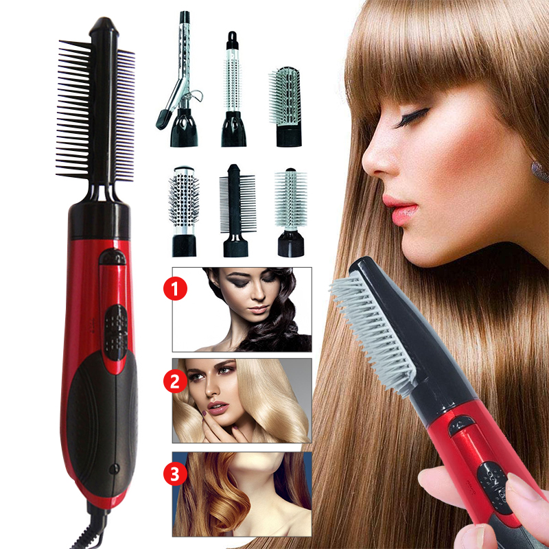 Hot Air Brush Blower Straightener Curler Hair Dryer Hot and Warm Wind Modeling Professional Salon Styling Tools Combs Hairbrush