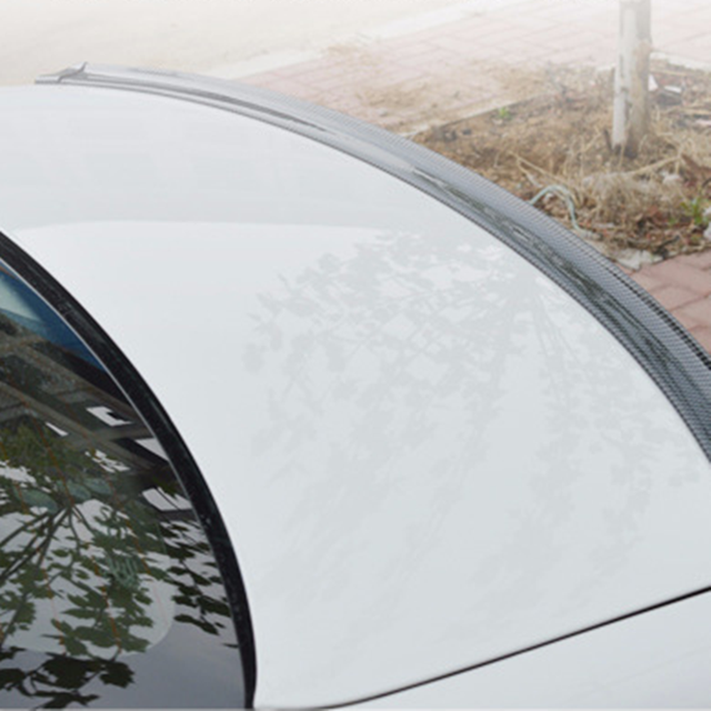 1.5M Car-Styling 5D Carbon Fiber Spoilers Styling DIY Refit Spoiler Universal For Audi BMW Toyota Honda KIA Hyundai Opel Mazda 2