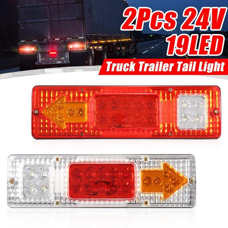 2Pcs Trailer Lights LED Stop Rear Tail Brake Reverse Lights Turn Indiactor ATV Truck Caravan Car Led  Car Light 24V Car Accessor