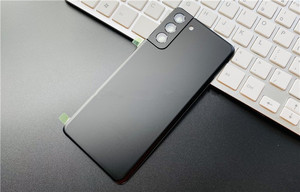 Image 5 - S21Plus tylna pokrywa do Samsung Galaxy S21 Plus obudowa naprawa drzwi baterii wymień tylną obudowę + obiektyw aparatu Logo