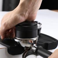58mm Stainless Steel Macaron Coffee Tamper Powder Hammer Espresso Tamper Flat Base Barista maker Grinder Distributor Accessorie
