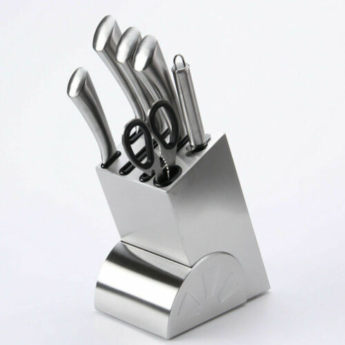 Knife Block Stainless Steel Set Kitchen Knives Organizer Holder Storage Rack New