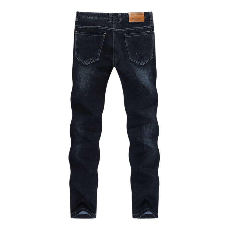KSTUN Jeans for Men Famous Brand Black Jeans Winter Stretch Business Casual Male Straight Classic Trousers High Quality Big Size 12