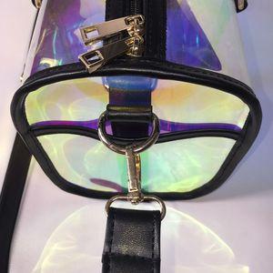 Image 4 - Moda torba podróżna kobiety duża pojemność przenośna torba na ramię pcv holograficzny Weekend bagaż Tote