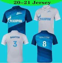 Camisa casual das camisas de santos barrios 20 21 topo fc zenit são petersburgo futbol reinaldo casa longe azul cinza malcom lovren 2021