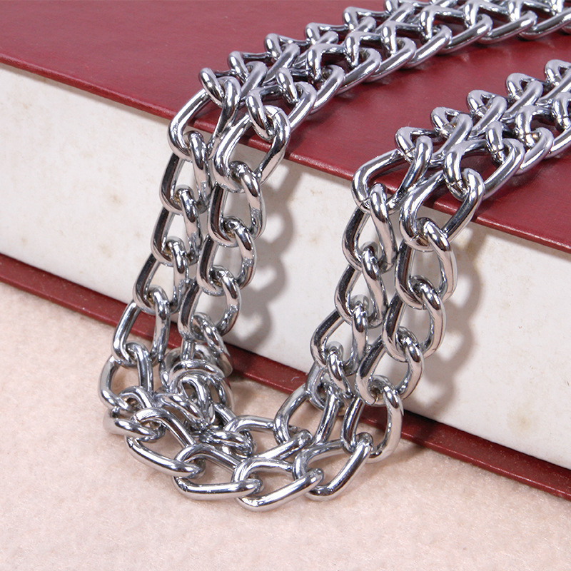 Sleeves Button-Shaped Pet Stainless Steel Double Row Chain Double Coils Gou Xiang Lian Neck Ring Small Large Dog Usable Xun Gou