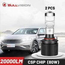 Bullvision H7 Led Mit Objektiv H4 H11 Scheinwerfer 20000lm 9005 9006 80W HB4 Glühbirnen HB3 Nebel Lampe H8 h9 Turbo 12V Eis Diode 2PC
