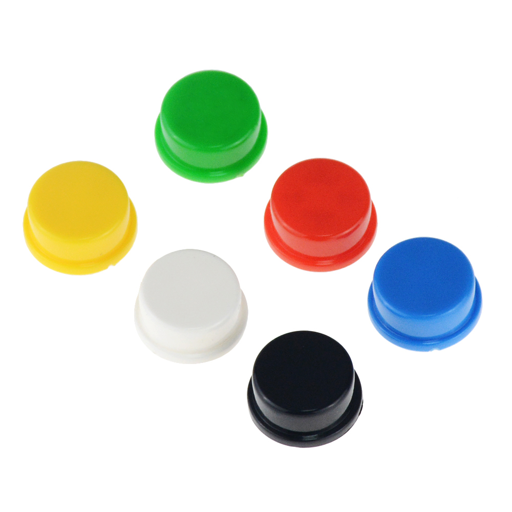 50PCS Round Tactile Button Caps Kits Suitable For 12 *12 *7.3MM Square Head Touch / Micro Switch Push Cap 12 X 12 X7.3mm