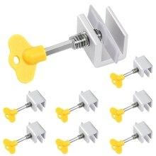 8 Pack Adjustable Sliding Window Locks Stop Door Frame Security Locks