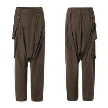 Moda calças de cintura elástica solta harem calças femininas zanzea sólida perna larga calças outono casualCalças e capris