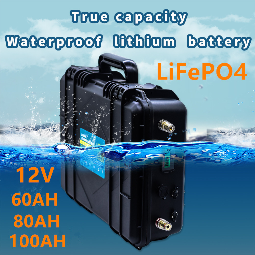 Lifepo4 12V60ah,80ah,<font><b>100ah</b></font> <font><b>lithium</b></font> <font><b>battery</b></font> pack true capacity LiFePO4 <font><b>12V</b></font> <font><b>lithium</b></font> <font><b>battery</b></font> pack rechargeable <font><b>battery</b></font> with BMS image