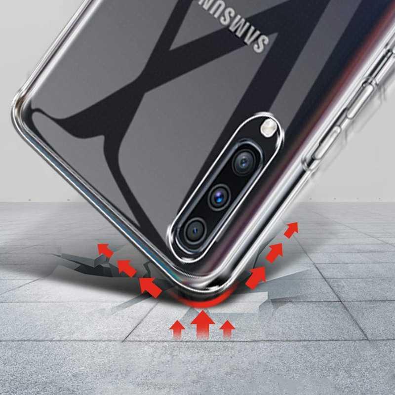 Para Samsung A50 A70 A80 A40 A5 A7 2017 A5 A7 A8 A9 2018 S7 BORDA S8 S9 S10 Plus S10E J5 J7 2017 Nota 8 9 Caixa Transparente Clara