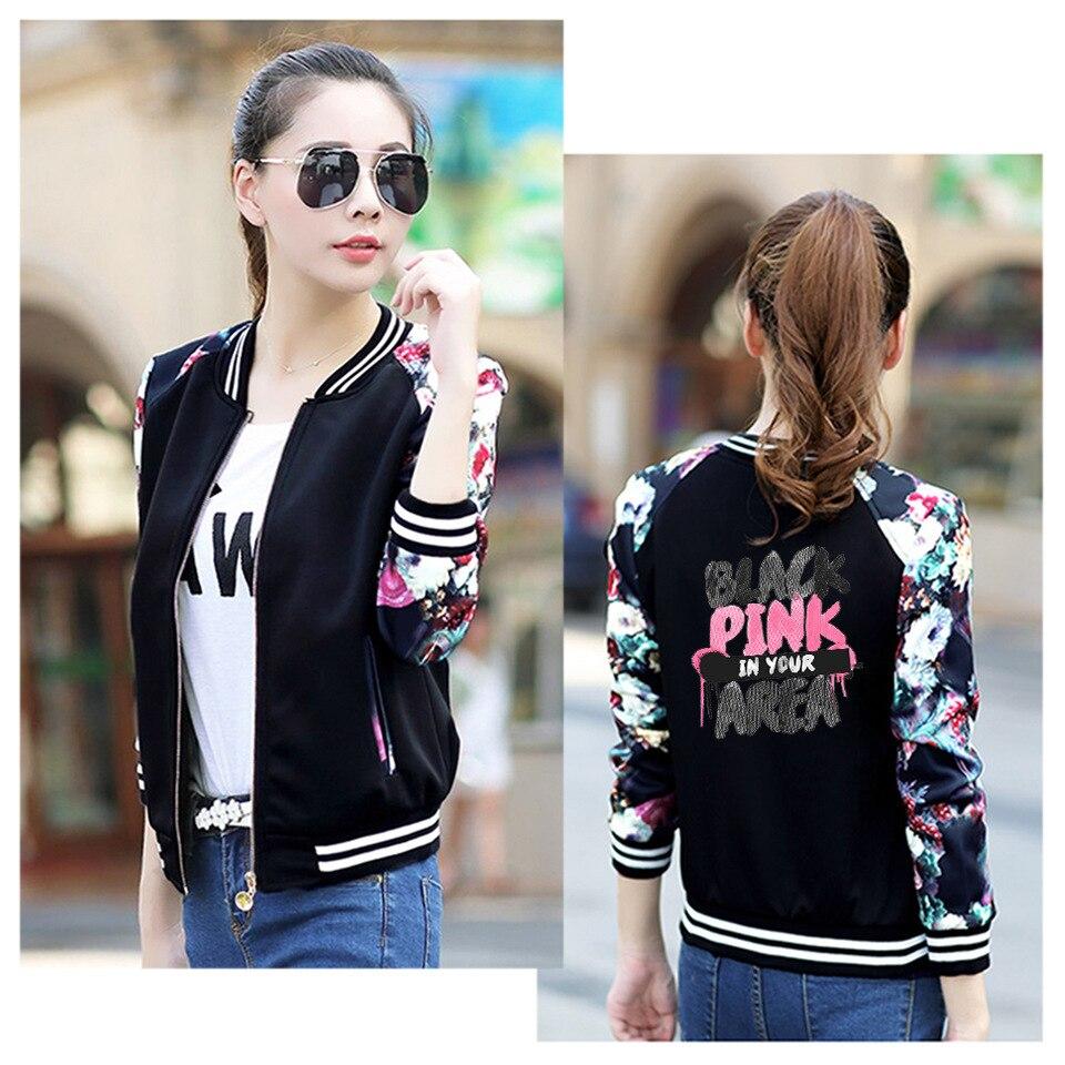 New BlackPink Printing Baseball Jacket Blackpink Baseball Jacket LISA JENNIE JISOO Letter Print Fans Clothes K-POP Jacket Coats