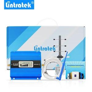 Image 2 - Мини GSM ретранслятор 900 МГц Lintratek, ЖК дисплей, мобильный телефон, GSM 900, Усилитель сигнала, антенна Яги, с кабелем 10 м