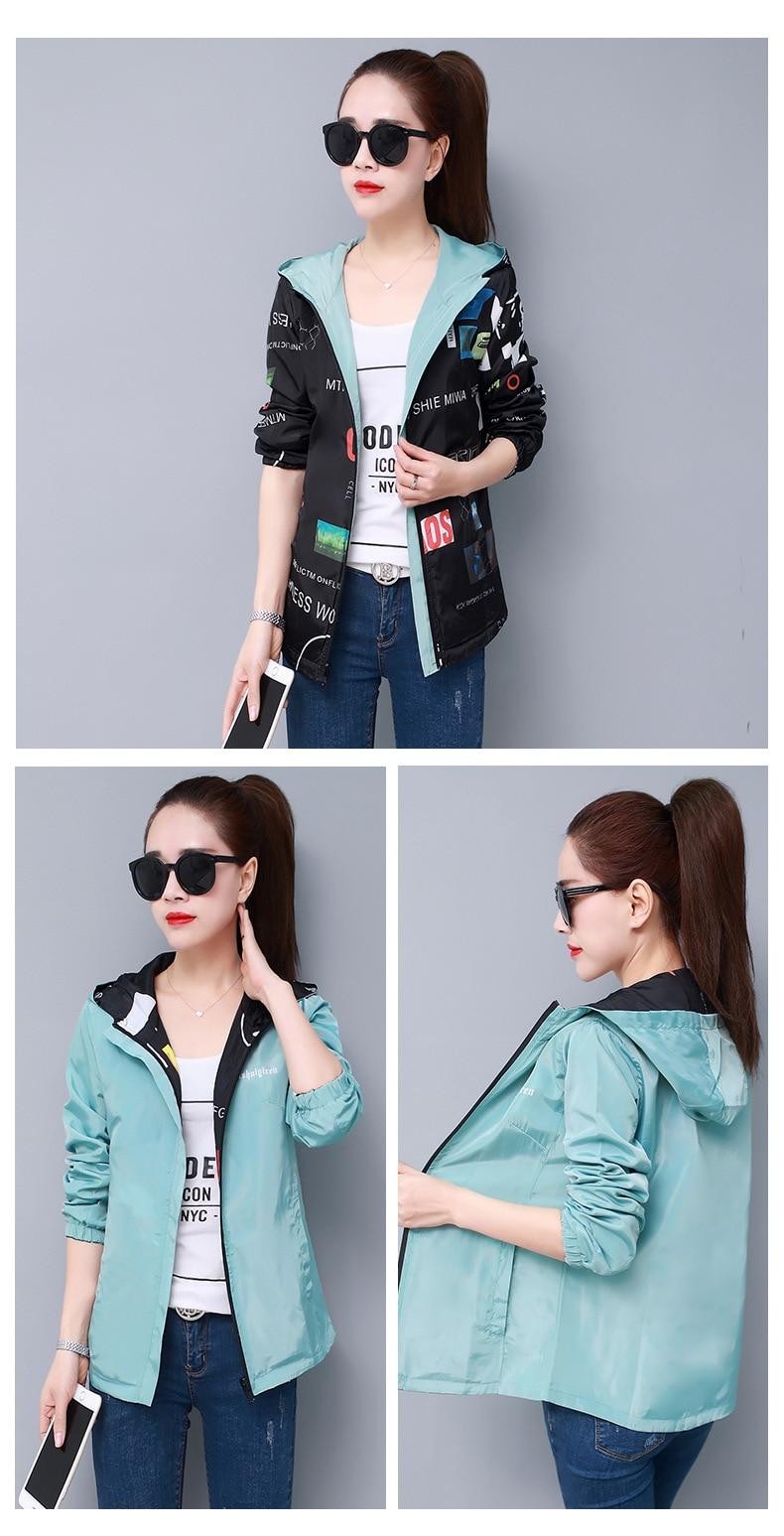 He2f769b7f8e4472aa4ed53d16340ac66b Streetwear Hooded Printed jacket women And Causal windbreaker Basic Jackets 2019 New Reversible baseball Zippers jacket 4XL