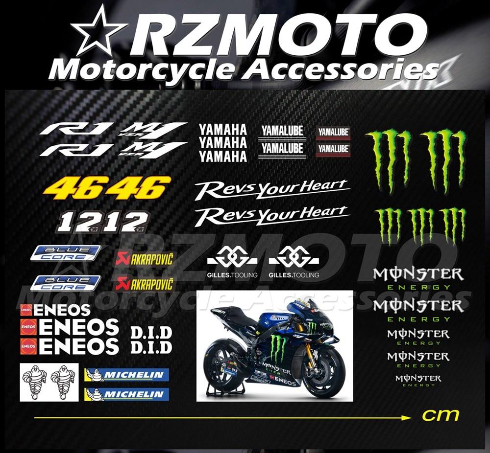 VR46 Casco de Bicicleta Tanque Calcomanías Pegatinas Rossi Motogp yamaha
