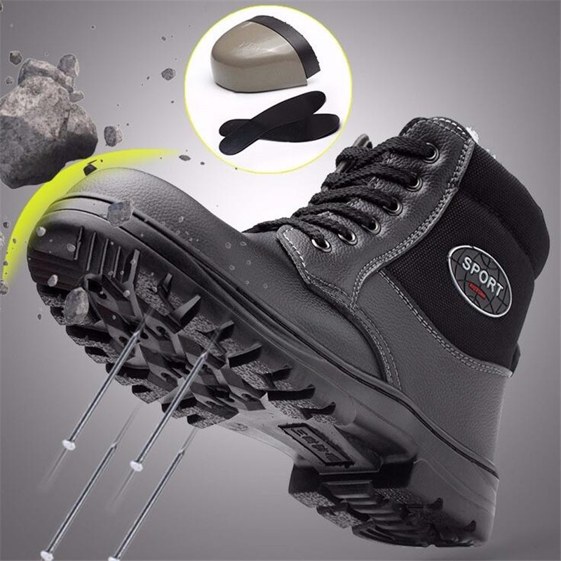 2019, Мужская промышленная Строительная обувь, водонепроницаемые, со стальным носком, устойчивые к проколу, безопасные, неубиваемые, мужские ...