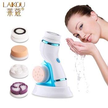 LAIKOU-cepillo de limpieza Facial de silicona, limpiador de rostro eléctrico, Mini limpiador de poros de la piel, cepillo de limpieza Facial profunda