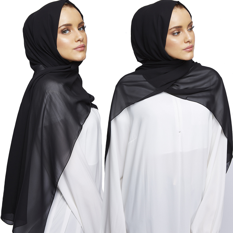 180.85 Big Size Premium Plain Bubble Chiffon Scarf  Shawl Women Fashion Headband Muslim Hijab Shalws Scarves 10PCS/Lot