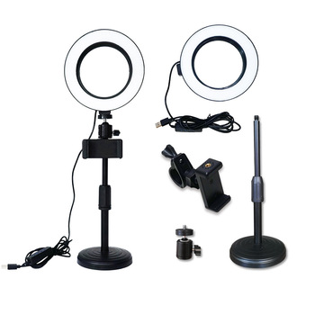Mini Selfie Studio Video Camera LED Ring Light Photo Lamp Led Fill Light Photography Accessories Lighting Phone Holder Live