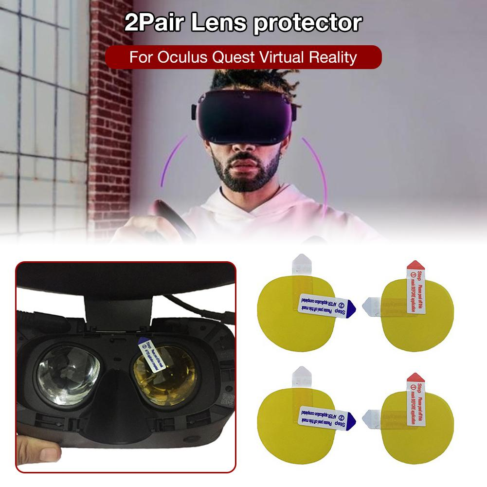 2 Pairs Lens Protector HD Clear Film Screen Protector For Oculus Quest/Oculus Rift S Virtual Reality