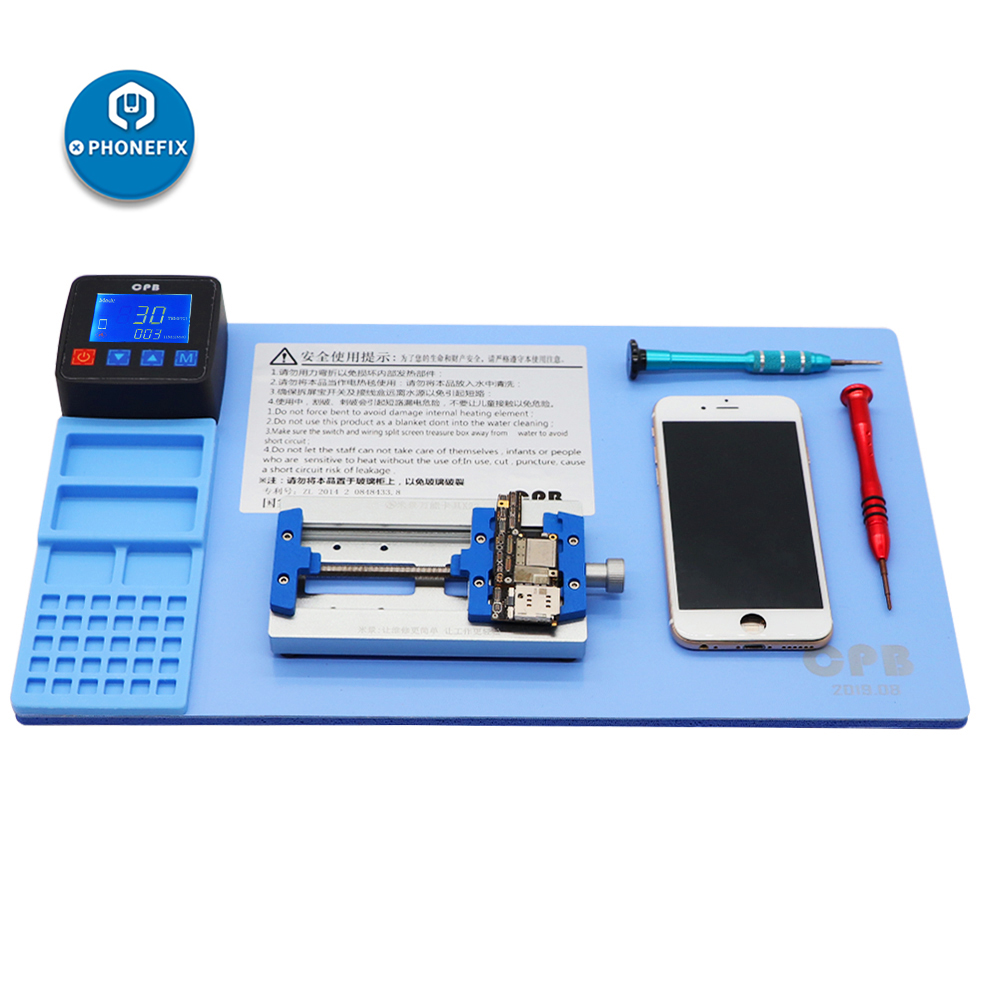 Tools : CPB Mobile Phone LCD Screen Separator Machine Repair Kits Refurbish Tool Efficient Remover Heating Pad Rubber Mat for iPad